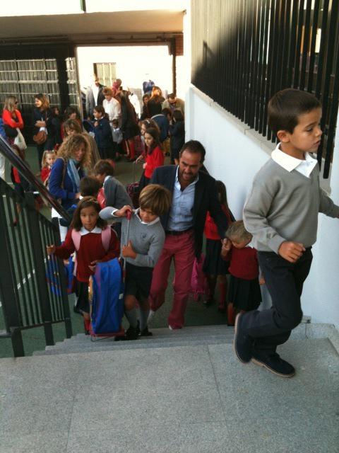 Primeros alumnos en entrar