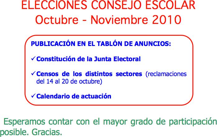 Elecciones Consejo Escolar 2010