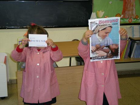Los niños de E.I. presentan la campaña del DOMUND