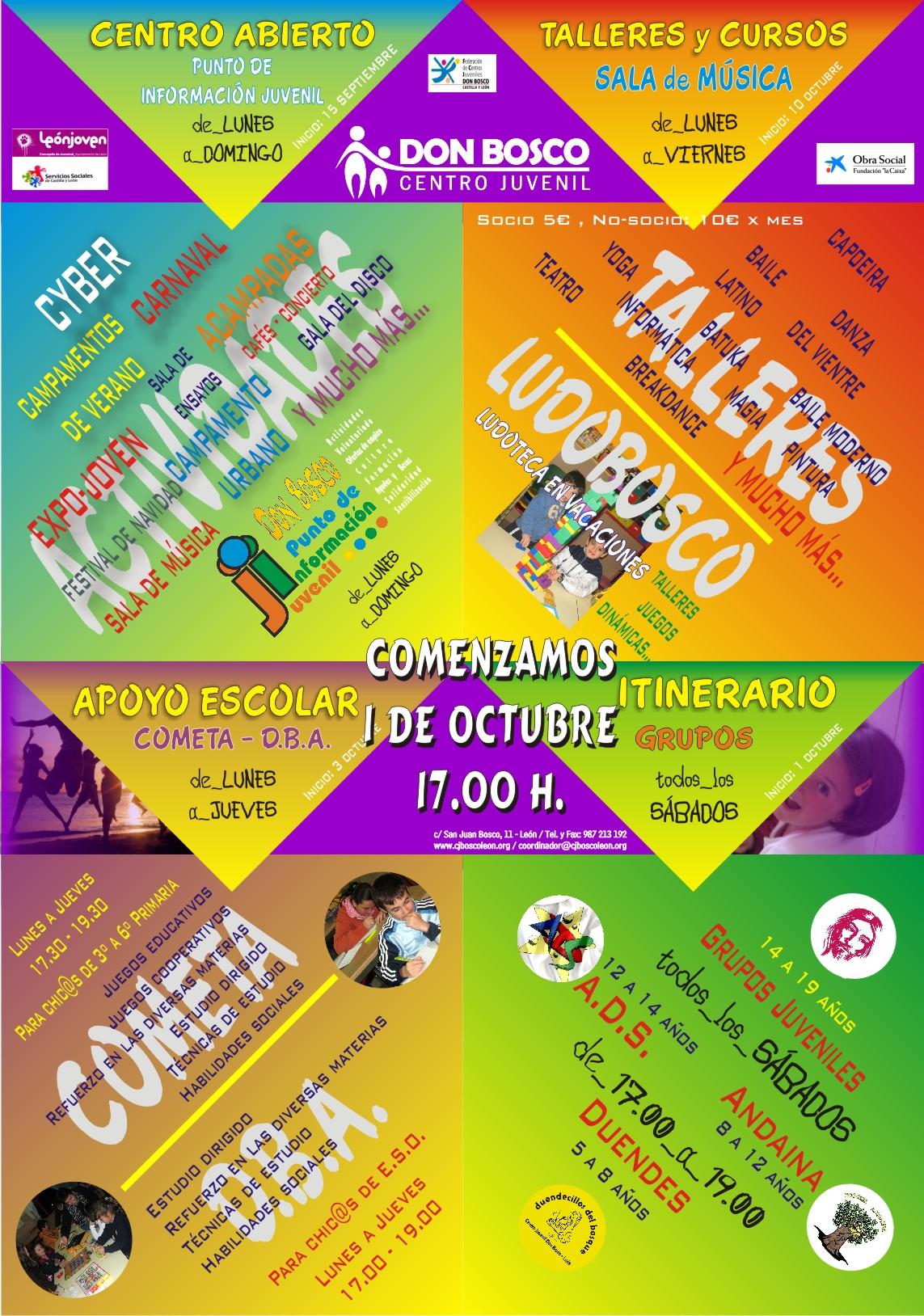 Cartel actividades Don Bosco (inicio)
