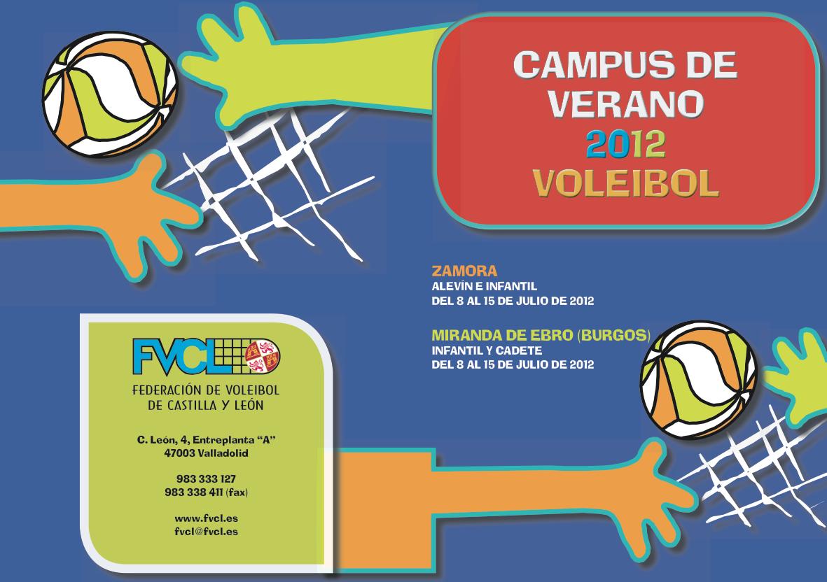 Campus de verano de Voleibol en Castilla y León