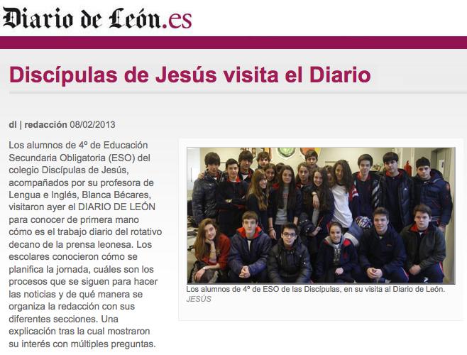 Los alumnos de 4º de E.S.O. visitan el Diario de León