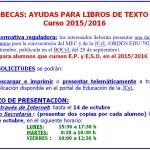 Ayuda libros de texto EP y ESO, curso 15-16