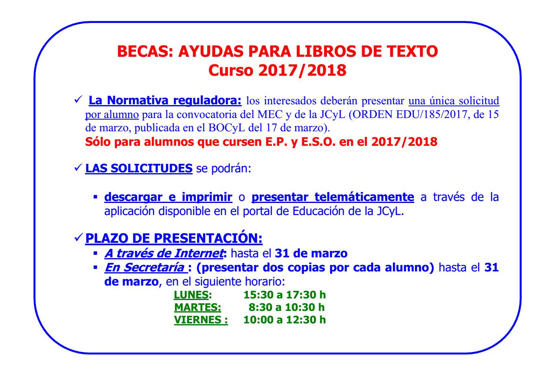 Ayuda libros de texto ep y eso releo plus curso 2017 18 - Beca comedor valencia 2017 18 ...