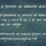 Admisión y matrícula 2017/18: Información general